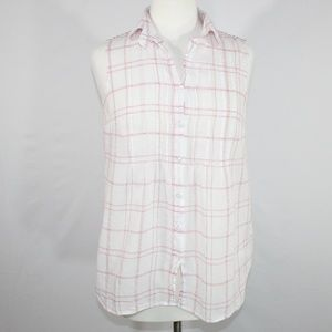 Cabi Style #834 Sleeveless Button Down Top Size S